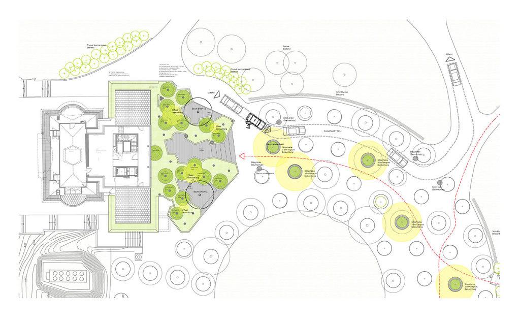 Entwurf Dachbegrüung + Vorfeld (Stadtpark)
