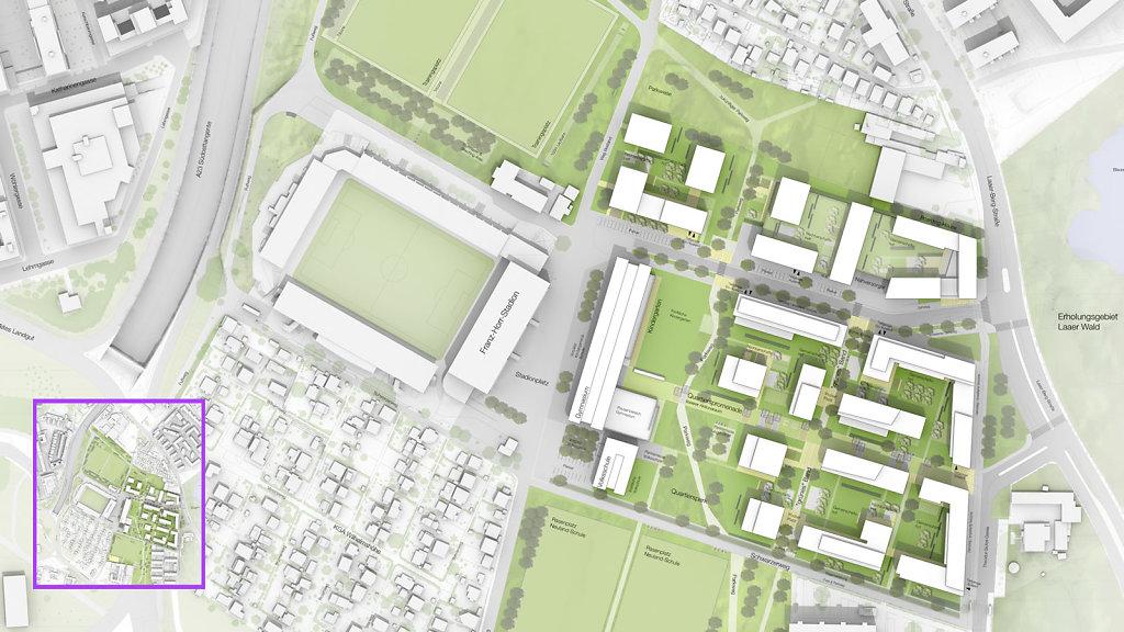 Lageplan + EG Plan Landschaftsarchitektur