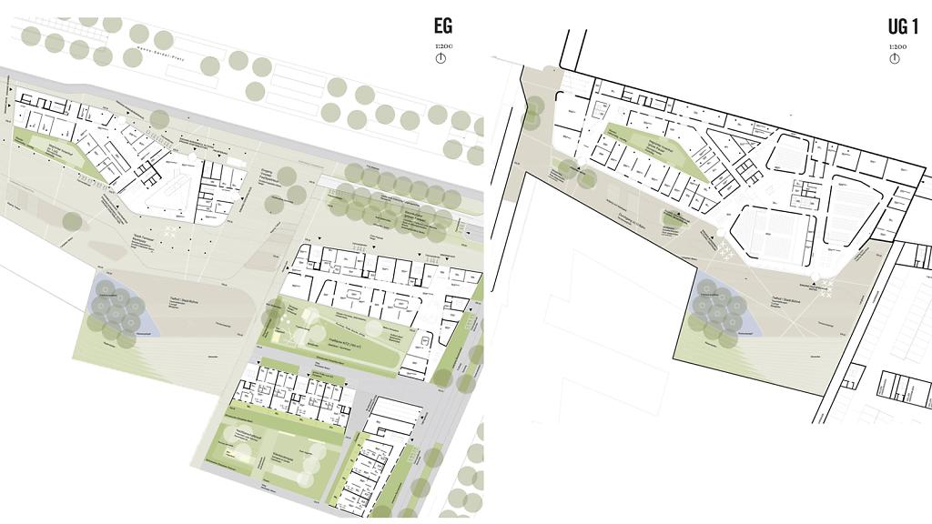 EG+ UG1 Plan Landschaftsarchitektur