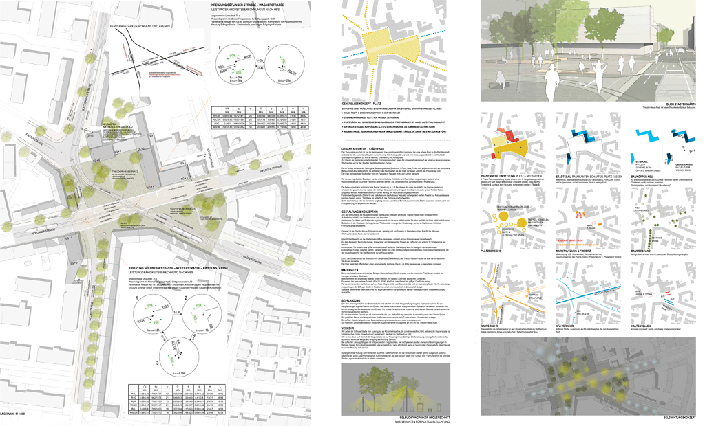 Lageplan + Verkehrs- u. Beleuchtungskonzept