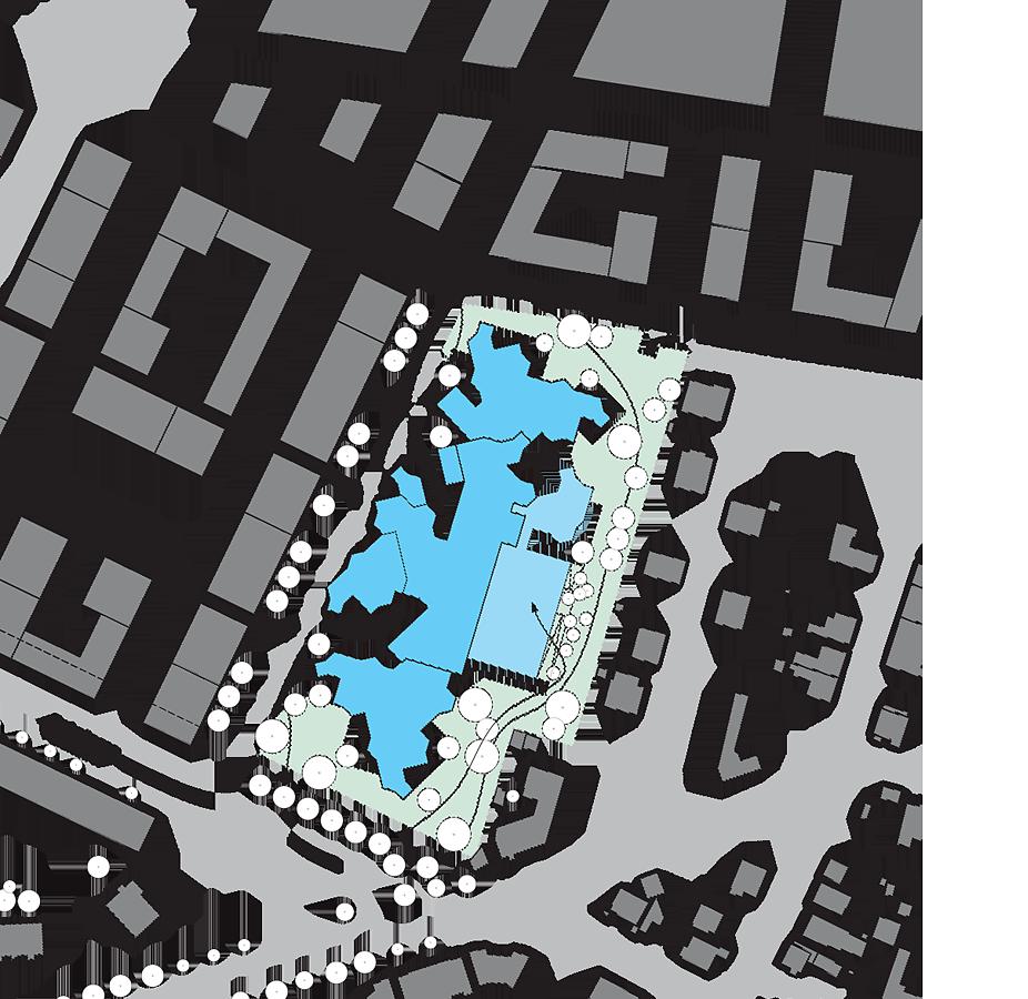 Lageplan BC Berresgasse und geplantes Wohnumfeld
